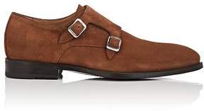 Barneys New York Men's Suede Double-Monk-Strap Shoes