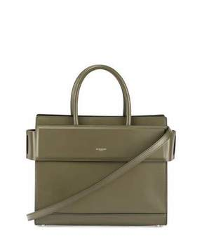 Givenchy Horizon Small Leather Tote Bag, Army Green