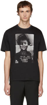Neil Barrett Black Sid McQueen Hybrid Mugshot T-Shirt