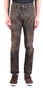 Meltin Pot Men's Brown Cotton Jeans.