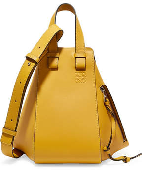 Loewe Hammock Small Textured-leather Shoulder Bag - Yellow