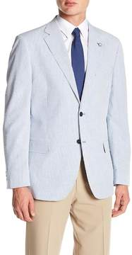 Nautica Blue Stripe Two Button Notch Lapel Classic Fit Sport Coat