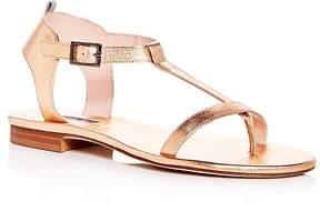 Sarah Jessica Parker Women's Veronika Leather T-Strap Sandals