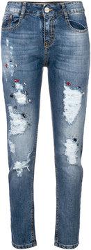 Blugirl distressed embellished jeans