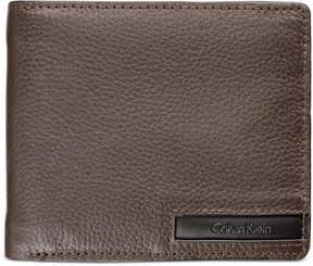 Calvin Klein Men's Pebble-Leather Money Clip Billfold & Keychain Set