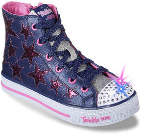 Skechers Girls Twinkle Toes Rockin Stars Toddler & Youth Light-Up High