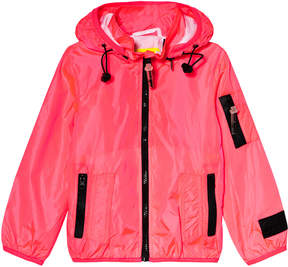 Diadora Fluro Pink Lightweight Hooded Jacket with Inner Braces