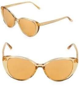 Linda Farrow 54MM Butterfly Sunglasses