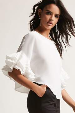 Forever 21 12x12 Ruffle Dolman Top