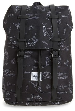Herschel Boy's Retreat Fish Print Backpack - Blue