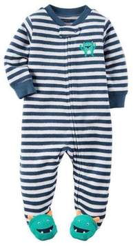 Carter's Baby Clothing Outfit Boys Terry Zip-Up Sleep & Play Boy, Blue, NB