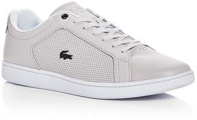 Lacoste Men's Carnaby Evo Leather Lace Up Sneakers
