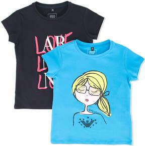 Emporio Armani Kids printed T-shirt set