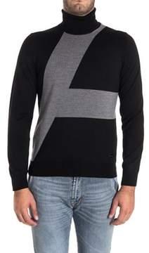 Alessandro Dell'Acqua Men's Grey/black Wool Sweater.