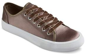 Mossimo Women's Jena Velvet Lace Sneakers Pewter
