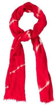 Oscar de la Renta Tie-Dye Woven Scarf