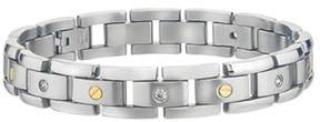 Armani Exchange Jewelry Mens Diamond Bracelet In Stainless Steel (0.15cts, H-i I3).