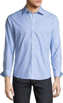 Neiman Marcus Classic-Fit Non-Iron Weart-It-Out Birdseye Gingham Sport Shirt