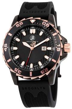 Co Brooklyn Watch Brooklyn Waterbury Sports Diver Black Swiss Quartz Watch