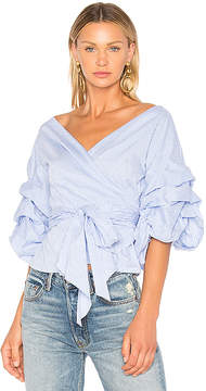 Central Park West Beacon Street Wrap Blouse