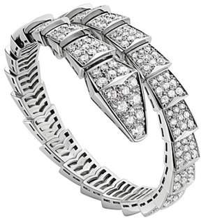 Bulgari Bvlgari 18K White Gold and Diamond Serpenti Bracelet BR855231