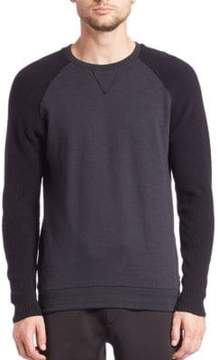 Madison Supply Long Sleeve Knit Fleece Pullover
