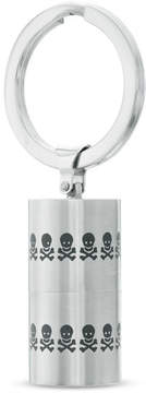 Zales Men's Skull and Crossbones Cylinder 4GB Flash Drive Key Chain in Two-Tone Stainless Steel