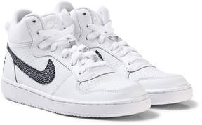 Nike White and Black Court Borough Mid Shoes