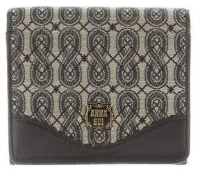 Anna Sui Leather-Trimmed Jacquard Wallet