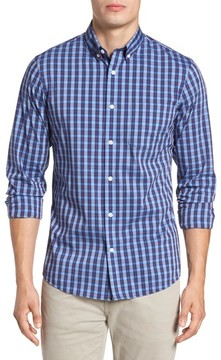 Nordstrom Men's Trim Fit Tech-Smart Plaid Sport Shirt