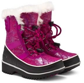 Sorel Pink and Black Tivoli II Boots