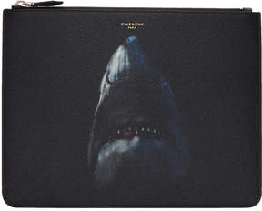 Givenchy Black Large Shark Zip Pouch