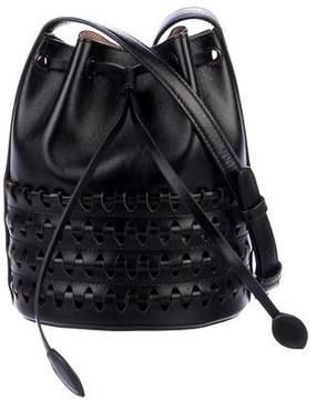 Alaia Laser Cut Mini Bucket Bag
