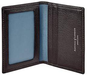 Aspinal of London Aerodrome Id Travel Card Case In Dark Brown Pebble