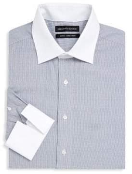 Saks Fifth Avenue Dobby Pinstripe Cotton Dress Shirt
