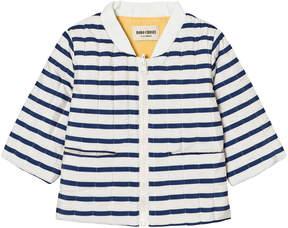 Bobo Choses Navy Stripes Reversible Padded Jacket