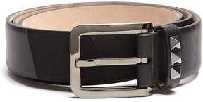 Valentino Rockstud camouflage canvas and leather belt