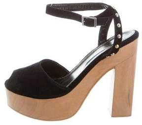 Maje Suede Platform Sandals