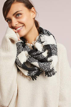 Anthropologie Checked Infinity Scarf