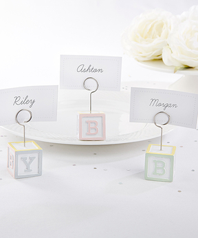 Baby Blocks Place Card Holder - Set of 12
