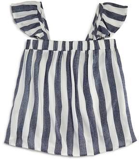 Vintage Havana Girls' Striped Flutter-Sleeve Top - Big Kid