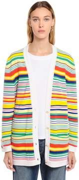 Loewe Striped Wool Blend Knit Cardigan