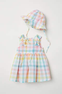 H&M Dress and Sun Hat - Pink