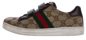 Gucci Boys' GG Canvas Web-Accented Sneakers