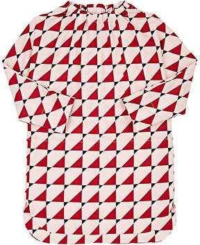 Marni Kids' Geometric-Print Cotton-Blend Twill Dress