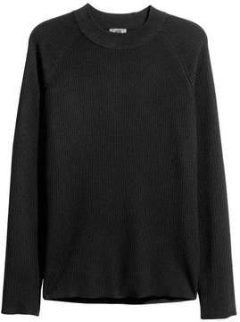 H&M Rib-knit Merino-blend Sweater
