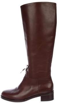 Henry Beguelin Leather Round-Toe Knee-High Boots
