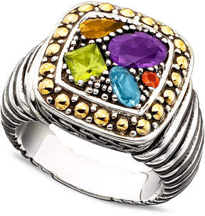 Effy Balissima by Multistone Square Ring (1-1/2 ct. t.w.) in 18k Gold and Sterling Silver