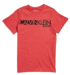Calvin Klein Jeans Boy's Logo Crewneck Cotton Tee