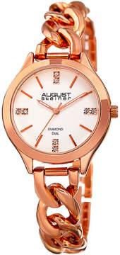 August Steiner Womens Rose Goldtone Strap Watch-As-8222rg